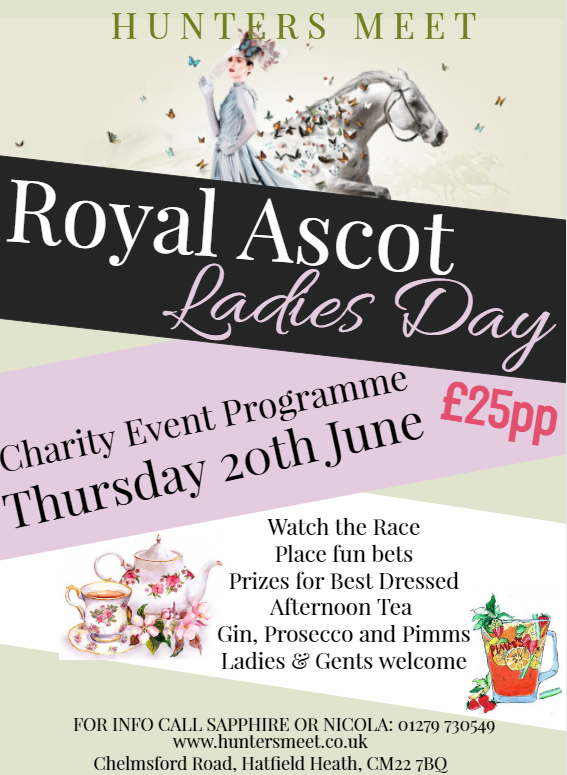 LADIES DAY- THURSDAY 20TH JUNE